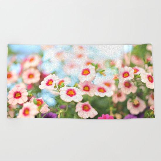 Summer flower vibes #1 #decor #art #society6 Beach Towel