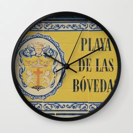 Playa de las Bovedas: market in Cartagena Wall Clock