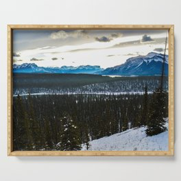 On route to Brule Alberta, Canada Serving Tray