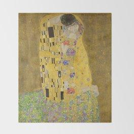The Kiss by Gustav Klimt Throw Blanket