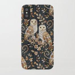 Wooden Wonderland Barn Owl Collage iPhone Case