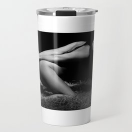Nude and Bound - Nude woman bound with rope Travel Mug