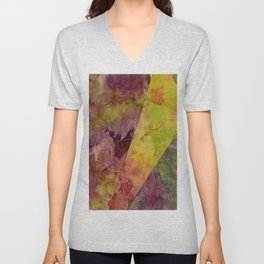 Wyoming hand dyed fabric Unisex V-Neck