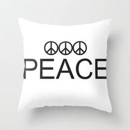 3 Peace Throw Pillow