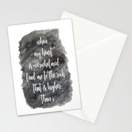 Lead Me - Psalm 61:2 Stationery Cards
