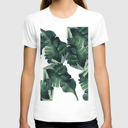 Banana Leaves Pattern Green T-shirt