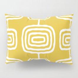 Mid Century Modern Atomic Rings Pattern 771 Mustard Yellow Pillow Sham