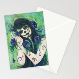 Adelita day of the dead Stationery Cards