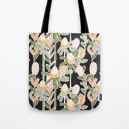 Red Honeysuckle & Mountain Banksias  Tote Bag