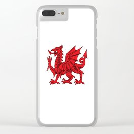 The Red Dragon or Y Ddraig Goch Isolated Clear iPhone Case