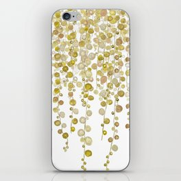 golden string of pearls watercolor 2 iPhone Skin