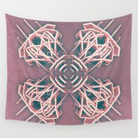 cyberpunk Wall Tapestries featuring Calaabachti Arch Rosetta by Obvious Warrior