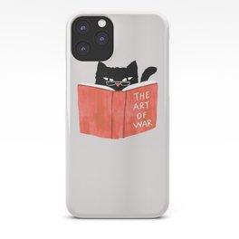 Cat reading book iPhone Case