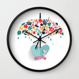 Valentines day special Love Umbrella Wall Clock