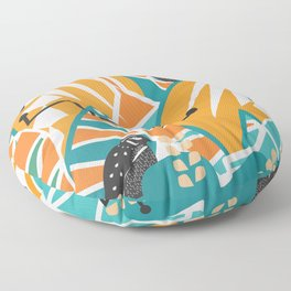 Modern decor with two quails Floor Pillow