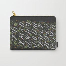 Floral Alphabet Carry-All Pouch