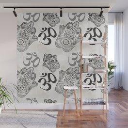 Hamsa Yoga Pattern Wall Mural