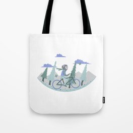 Werewolf Goes For a Ride Tote Bag