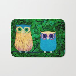 Two Owls Bath Mat