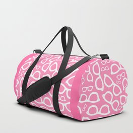 Smart Glasses Pattern - Pink Duffle Bag