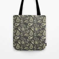 paisley Tote Bags featuring Paisley by Sixter
