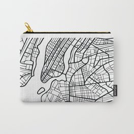 NEW YORK City, USA, Street Map & Coordinates Carry-All Pouch