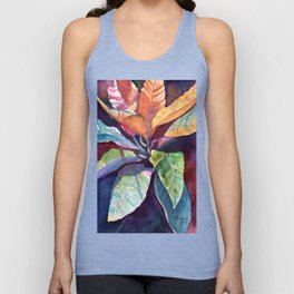 Colorful Tropical Leaves 3 Unisex Tank Top