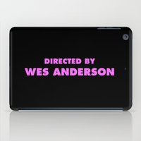 wes anderson iPad Cases featuring Directed By Wes Anderson by FunnyFaceArt