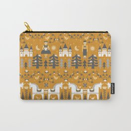 Yellow + Gray Fairy Tale Carry-All Pouch
