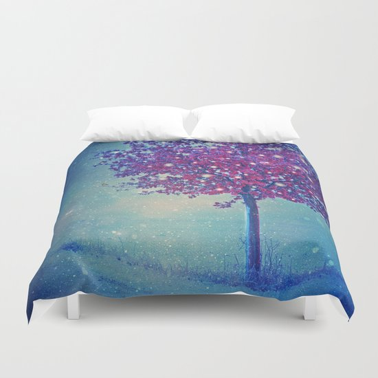 SONG OF THE WINTERBIRD Duvet Cover