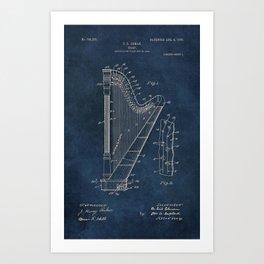 Ekman  Harp  patent art Art Print