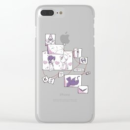 Corkboard to Love Clear iPhone Case