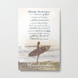 Spiritual Surfer Metal Print
