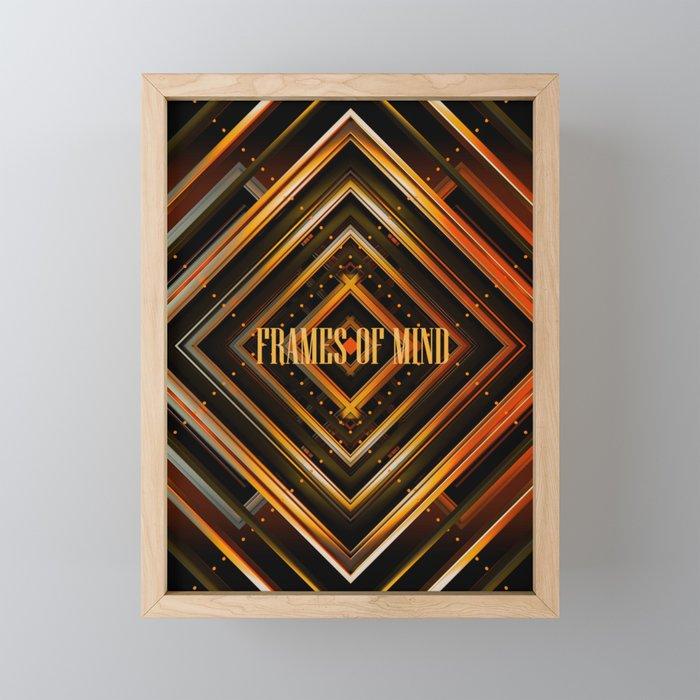 Frames of mind Framed Mini Art Print