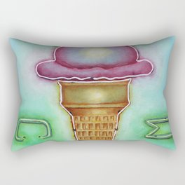 Neon Ice Cream Rectangular Pillow