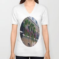 new orleans V-neck T-shirts featuring New Orleans Florals by Brown Eyed Lady