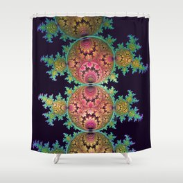 Amazing patterns in orbs and dragon spirals Shower Curtain