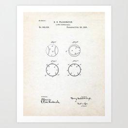 Tennis Ball Patent Illustration Art Print