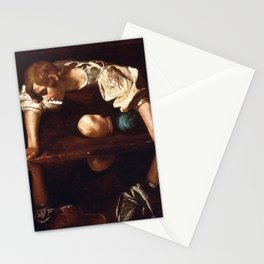 Narcissus by Caravaggio (1599) Stationery Cards