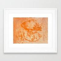 pisces Framed Art Prints featuring Pisces by Fernando Vieira