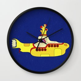 We all live in a yellow submarine Wall Clock