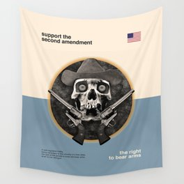 Support The Second Amendment Wall Tapestry