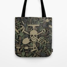 Garden tools camouflage Tote Bag