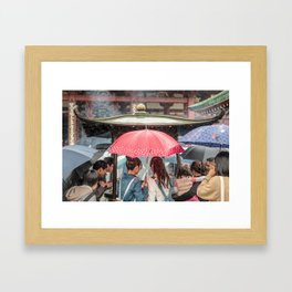 Senso-Ji Shower Framed Art Print