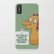 Masters Degree iPhone X Slim Case