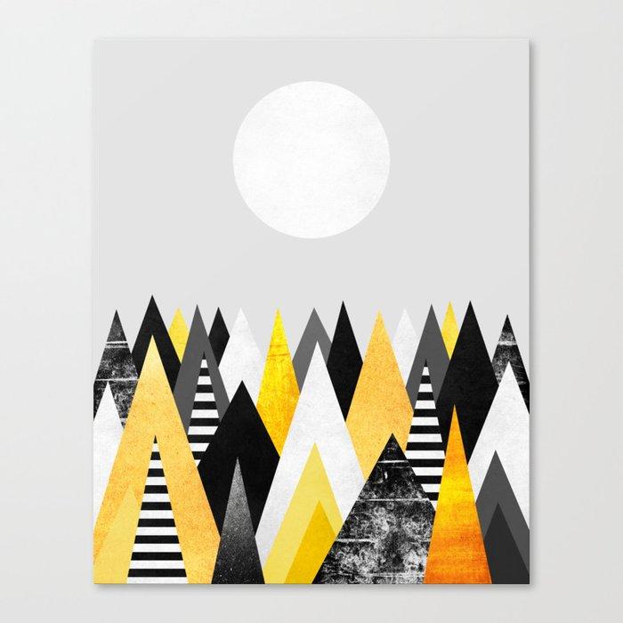 Yellow Peaks / Version 2 Canvas Print