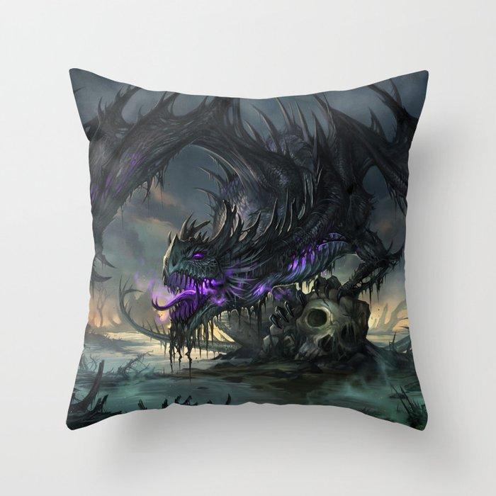 Black Dragon Throw Pillow By Sandara Society6