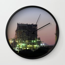 Power Station Lights Wall Clock