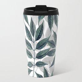 Modern autumn leaves image Travel Mug