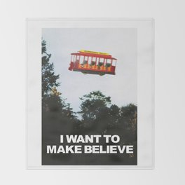 I WANT TO MAKE BELIEVE Fox Mulder x Mister Rogers Creativity Poster Throw Blanket